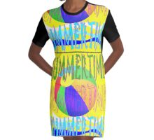 Summer Holidays Graphic T-Shirt Dress