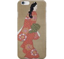 Vintage famous art - Hishikawa Moronobu - Beauty iPhone Case/Skin