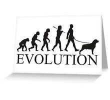 EVOLUTION rottweiler Greeting Card