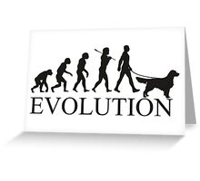 EVOLUTION golden retriver Greeting Card