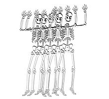 Spooky scary skeleton Photographic Print