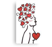 The Valentine Woman Canvas Print