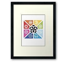 TrianglesSymbolsEC Framed Print