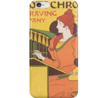 Vintage Engraving company poster iPhone Case/Skin