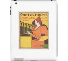 Vintage Engraving company poster iPad Case/Skin