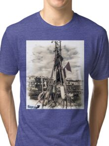 Flags on a Boat - Cornwall Tri-blend T-Shirt