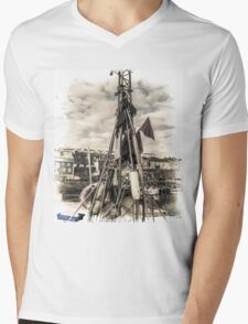 Flags on a Boat - Cornwall Mens V-Neck T-Shirt