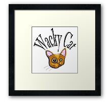 wacky cat Framed Print