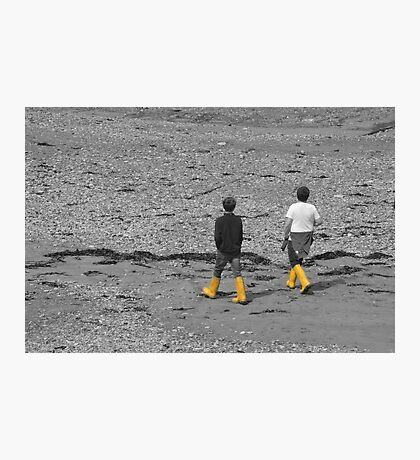 Little boys with their wellies Photographic Print