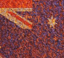 Australia Flag Rusty Old Texture Sticker