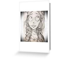 Corpse Bride With Border Greeting Card