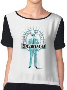 Bonjour ma belle New York by Francisco Evans ™ Chiffon Top