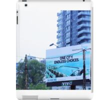 ONE CITY ENDLESS CHOICES iPad Case/Skin