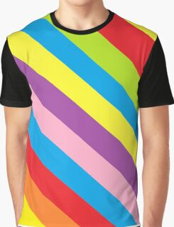 Colourful Stripes Graphic T-Shirt