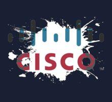 Cisco Logo White Black Glow Baby Tee