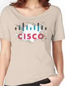 Cisco Logo White Black Glow Women's Relaxed Fit T-Shirt