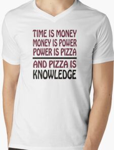 Pizza is Knowledge Mens V-Neck T-Shirt