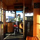 Driving The Cable Car by WildestArt