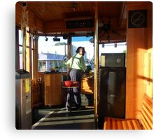 Driving The Cable Car Canvas Print