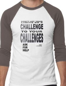 Positive Pro-BLACK: Seek Help When NEEDED. DO IT!! Men's Baseball ¾ T-Shirt