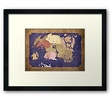 Elders scrolls simple map Framed Print