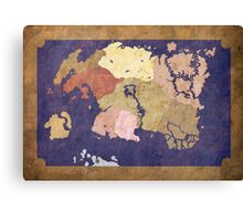 Elders scrolls simple map Canvas Print