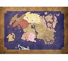 Elders scrolls simple map Photographic Print