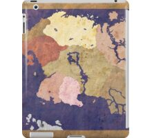 Elders scrolls simple map iPad Case/Skin