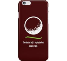 Object of Golf - Light text iPhone Case/Skin