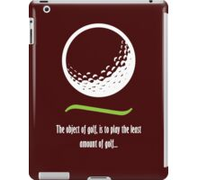 Object of Golf - Light text iPad Case/Skin