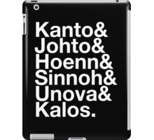 Pokemon Region Helvetica iPad Case/Skin