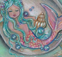 Sleepy Little Mermaid baby by Renee Lavoie Sticker