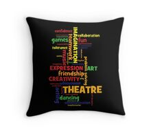 Benefits of Theatre Arts Education Throw Pillow
