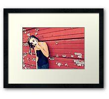 masked girl Framed Print