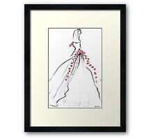 Bride & Roses Framed Print
