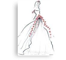 Bride & Roses Canvas Print