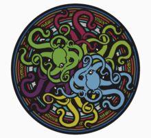Octopus Mandala - Ocean Tentacles of Madness Baby Tee