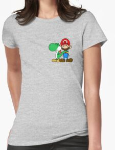Mario and Yoshi Womens Fitted T-Shirt