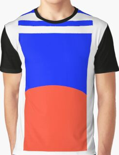 Blue, Red & White - Pattern - Unisex Graphic T-Shirt