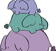 Cute Elephant Stack by SaradaBoru