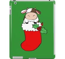 Christmas Stocking Cow iPad Case/Skin