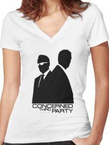 Person of Interest - Concerned third Party Women's Fitted V-Neck T-Shirt