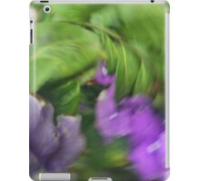 Flowers, Yesterday Today and Tomorrow, purple, green, nature, colorful, happy iPad Case/Skin