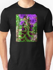Bumble Bee and Purple Flower Unisex T-Shirt