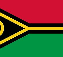 Vanuatu Flag Stickers by Mark Podger