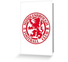 MIDDLESBROUGH FOOTBALL CLUB OLD LOGO CREST BORO Greeting Card