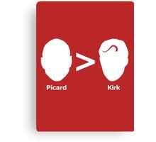 Picard > Kirk Canvas Print