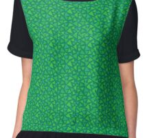 Grass Pattern Chiffon Top