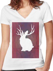 Miike Snow - Geometric Women's Fitted V-Neck T-Shirt
