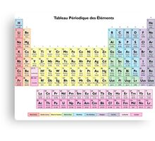 Tableau des Elements - Periodic Table in French Canvas Print